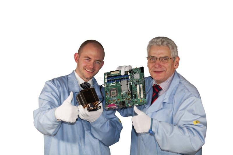 Succesvolle IT - ingenieurs royalty-vrije stock afbeelding