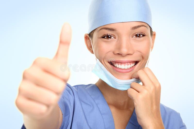 Succesvolle jonge arts/verpleegster royalty-vrije stock afbeeldingen