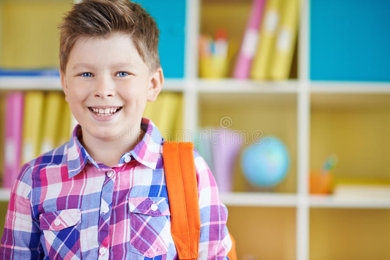 Succesvolle jongen royalty-vrije stock foto