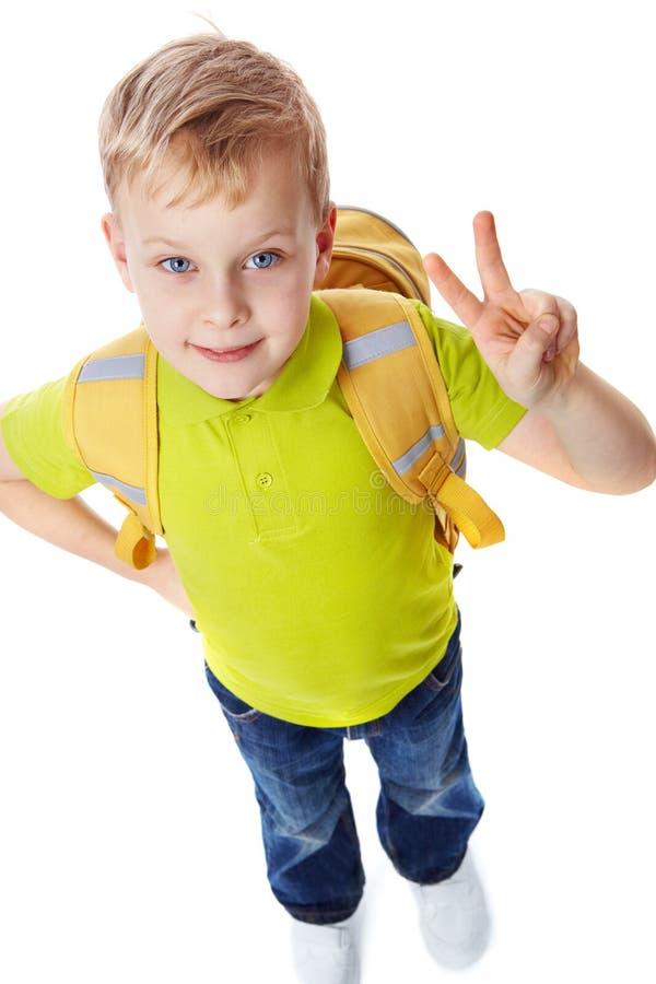 Succesvolle leerling stock foto