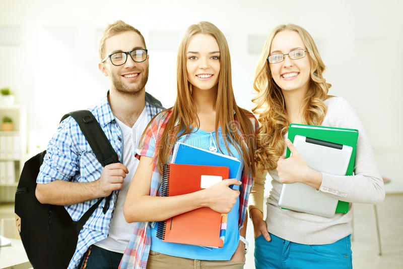 Succesvolle leerlingen stock afbeeldingen
