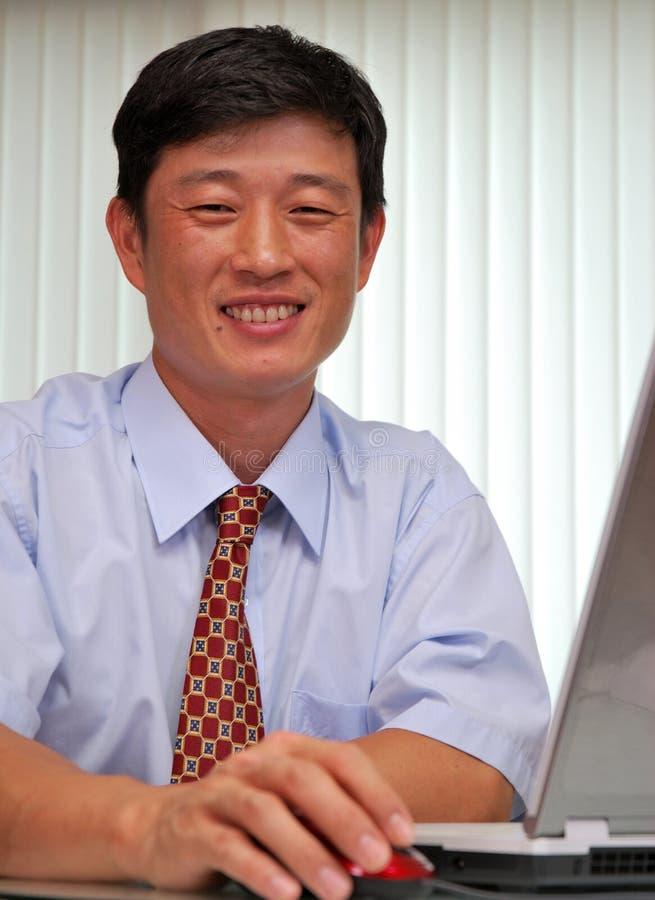 Succesvolle manager in het bureau royalty-vrije stock afbeelding