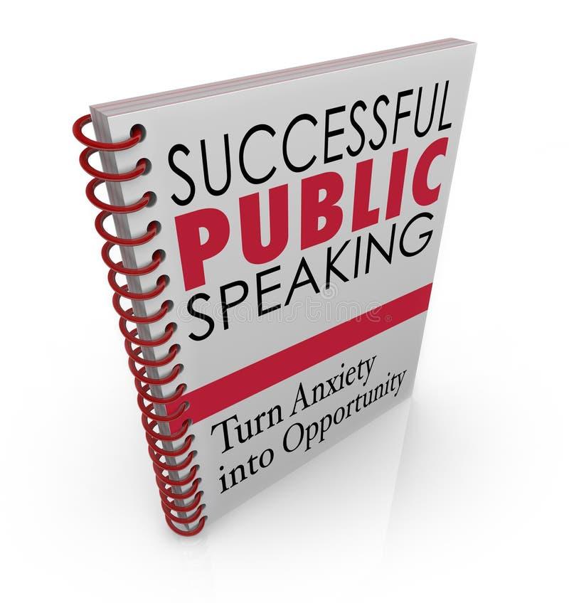Succesvolle Openbare het Spreken de Hulpraad die van de Boekdekking Toespraak geven royalty-vrije illustratie