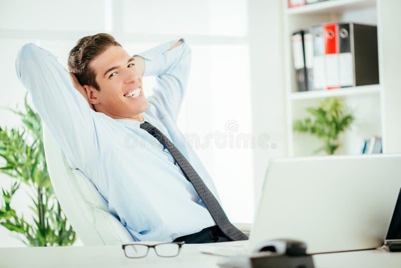 Succesvolle werkgever stock afbeelding