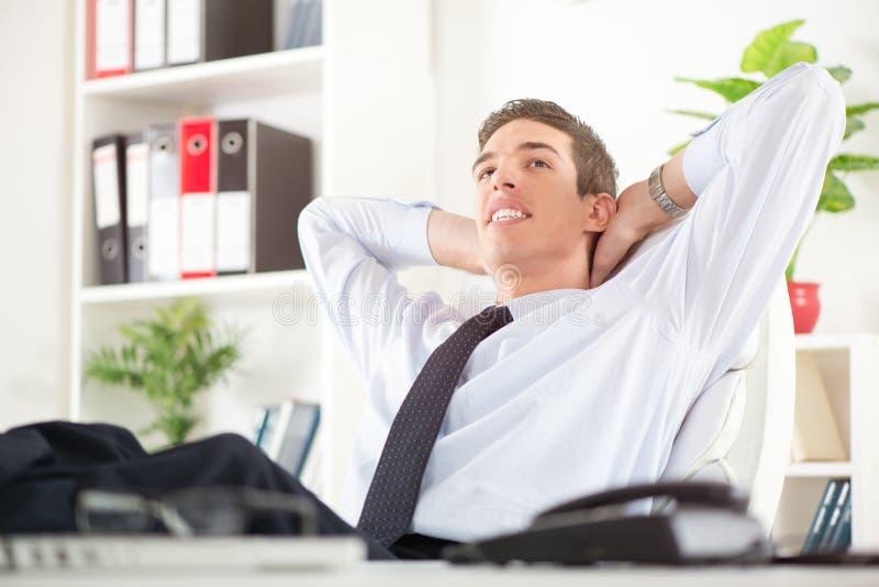 Succesvolle werkgever royalty-vrije stock afbeelding