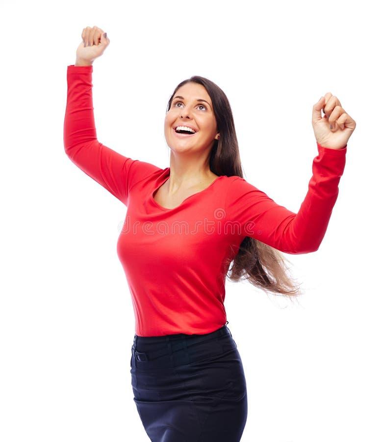 Succesvolle Winnaar Bedrijfsvrouw stock afbeelding
