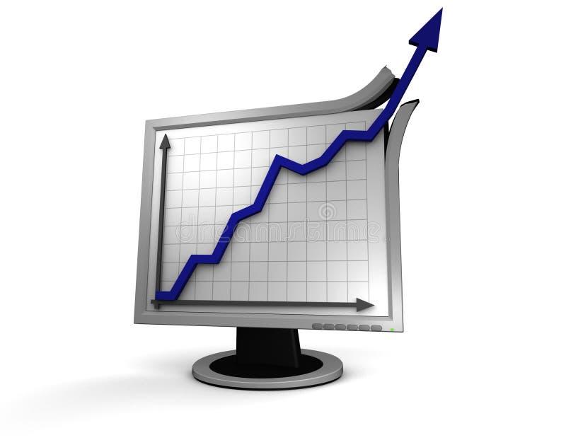Succesvolle zaken stock illustratie
