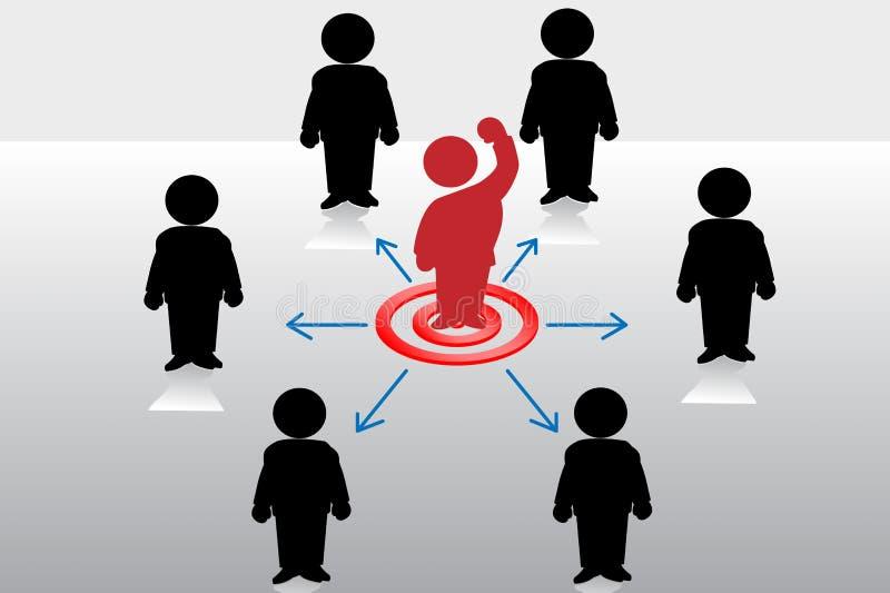Succesvolle zakenman vector illustratie