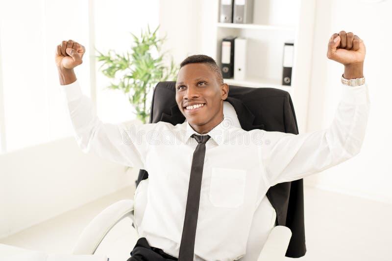 Succesvolle zakenman royalty-vrije stock afbeeldingen