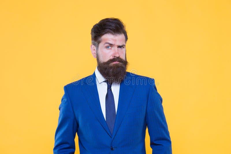 Succesvolle zakenman goed verzorgd verschijning Ernstige gemotiveerde ondernemer Bedrijfs mensen Uitdaging alles stock fotografie