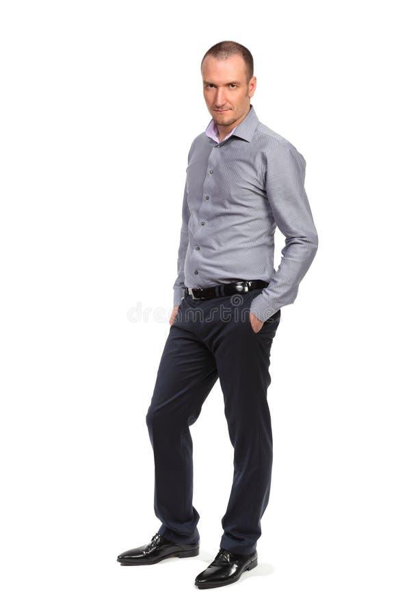 Succesvolle zakenman, volledig lengteportret stock afbeelding