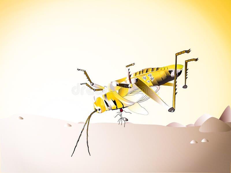 Succinta de fourmi et de Patanga photo libre de droits
