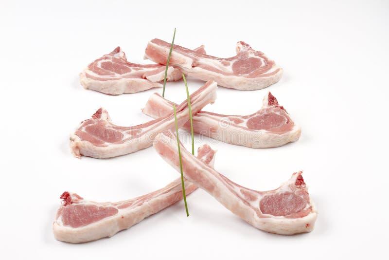 Succion des côtelettes d'agneau images stock