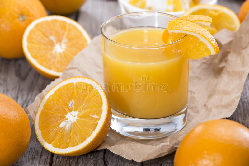 Succo d'arancia fotografie stock libere da diritti