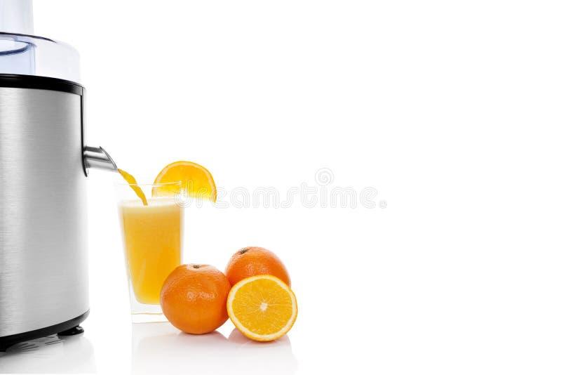 Succo d'arancia fresco. fotografia stock