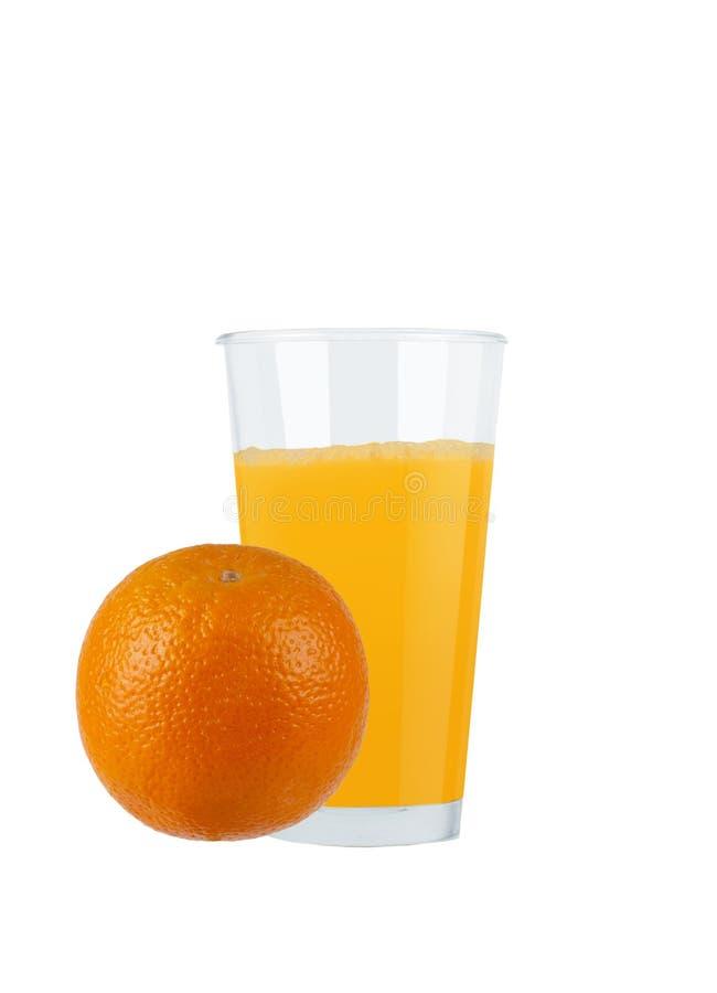 Succo d'arancia in vetro immagini stock libere da diritti