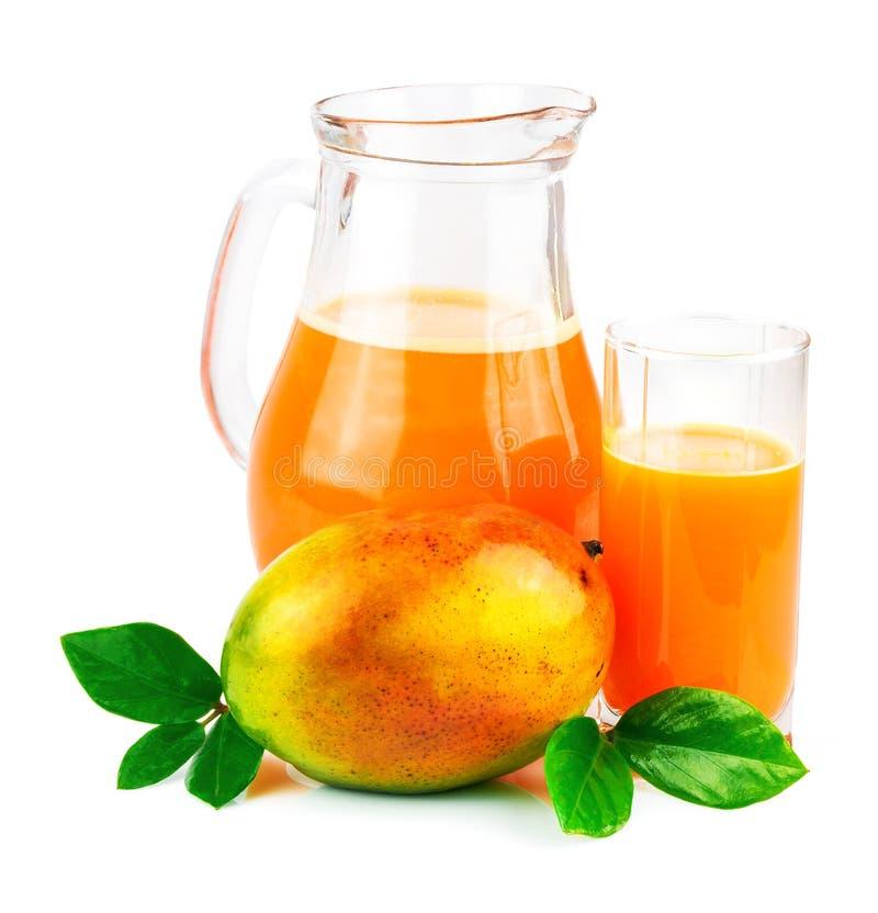 Succo del mango con la frutta del mango immagini stock libere da diritti