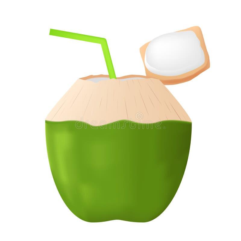 Succo della noce di cocco illustrazione di stock