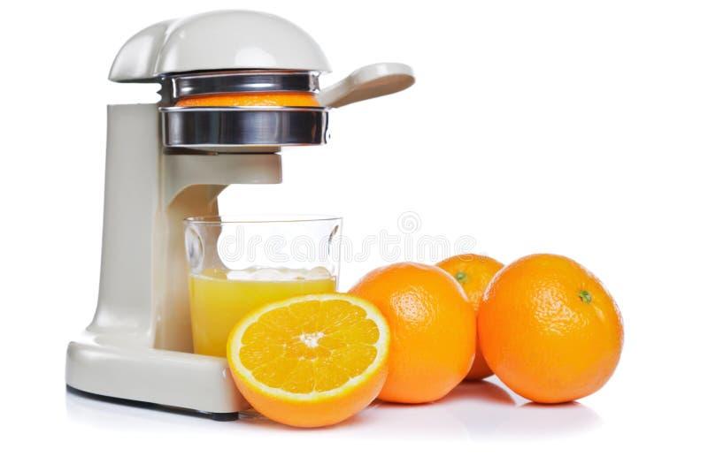 Succo di arancia di recente compresso   immagini stock