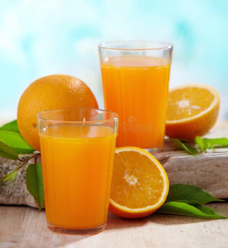 Succo di arancia fresco fotografia stock