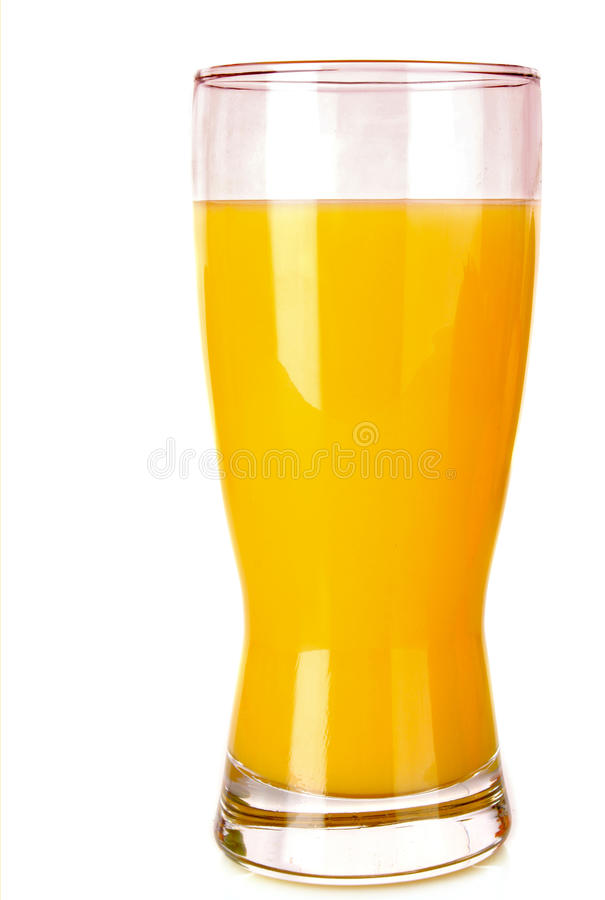 Succo di arancia isolato immagine stock