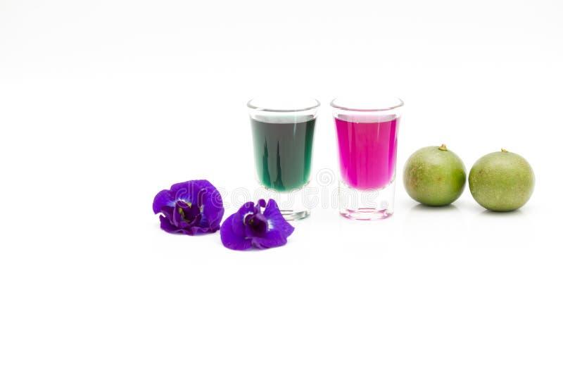 Succo di erbe sano fresco di Un-chan della bevanda della Tailandia con il limone immagini stock libere da diritti