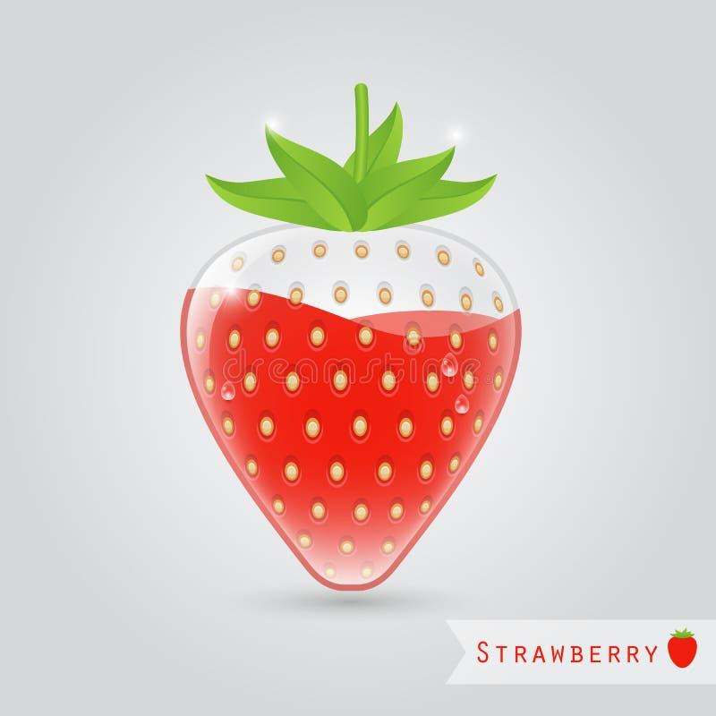 Download Succo Di Frutta Della Fragola Illustrazione Vettoriale - Illustrazione di fresco, disegno: 56879825
