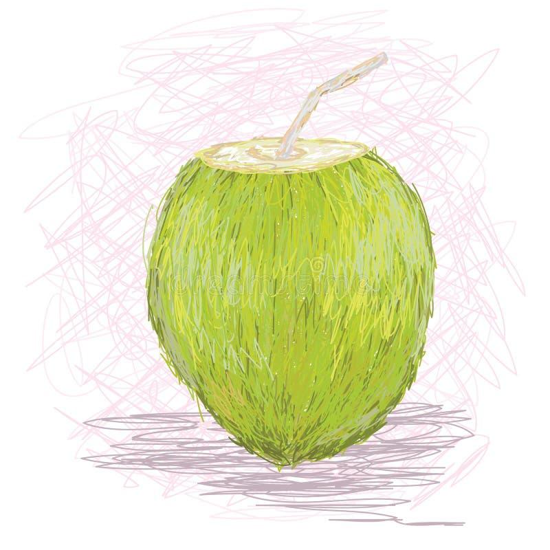 Succo di frutta della noce di cocco royalty illustrazione gratis