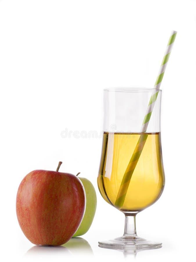 Succo di mele fresco fotografia stock