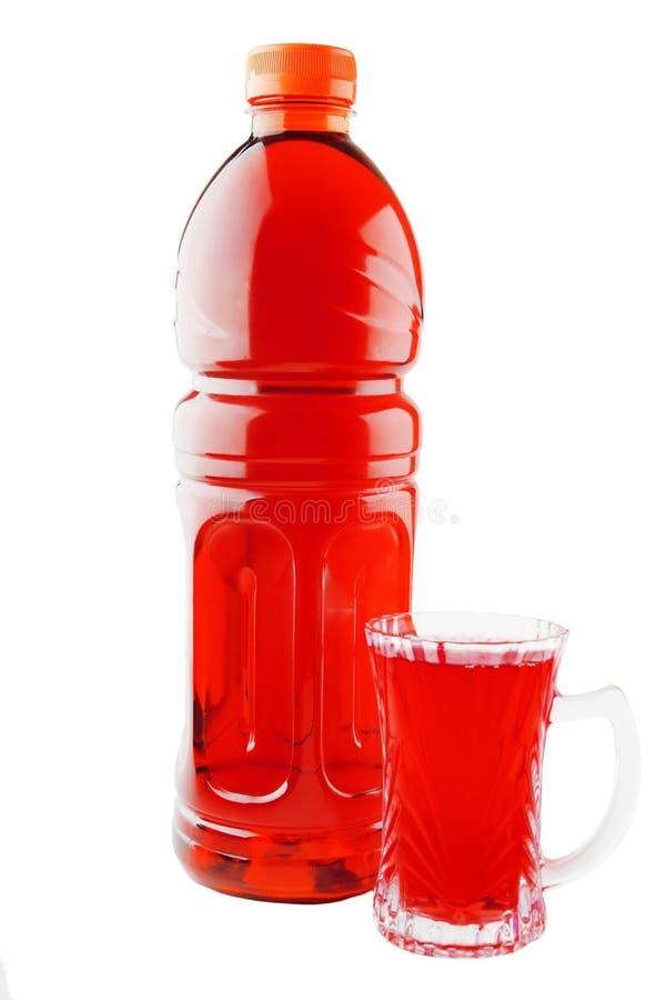 Succo di pomodoro in bottiglia immagine stock libera da diritti