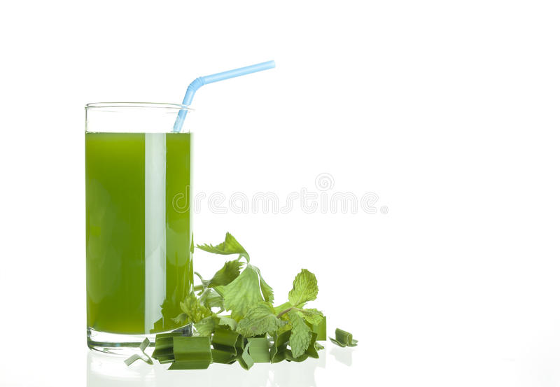Succo di verdura fotografia stock