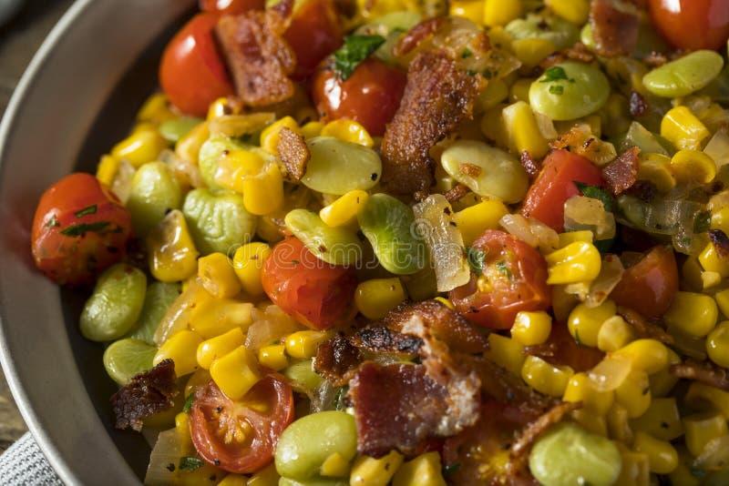 Succotash caseiro com Lima Beans fotografia de stock royalty free