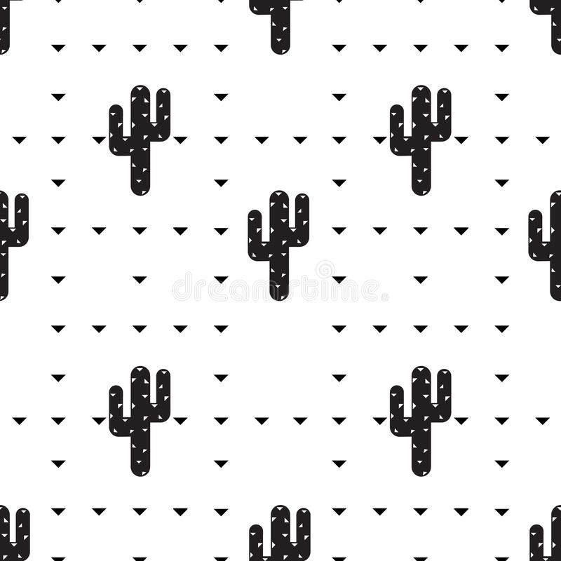 Succulent and cactus pattern royalty free stock photography