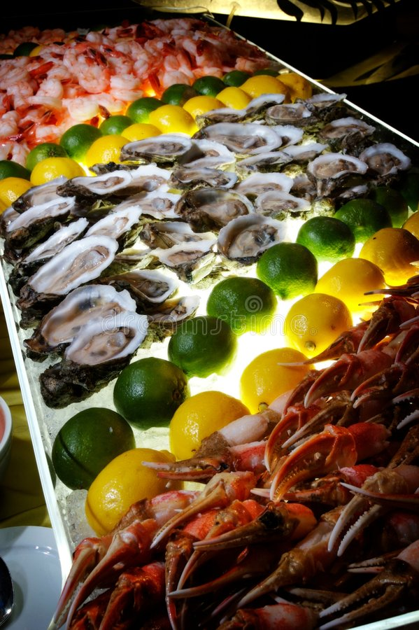 Succulent zeevruchtenbuffet royalty-vrije stock foto's