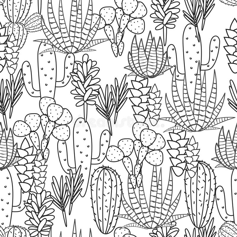 Succulents Plant Vector Seamless
