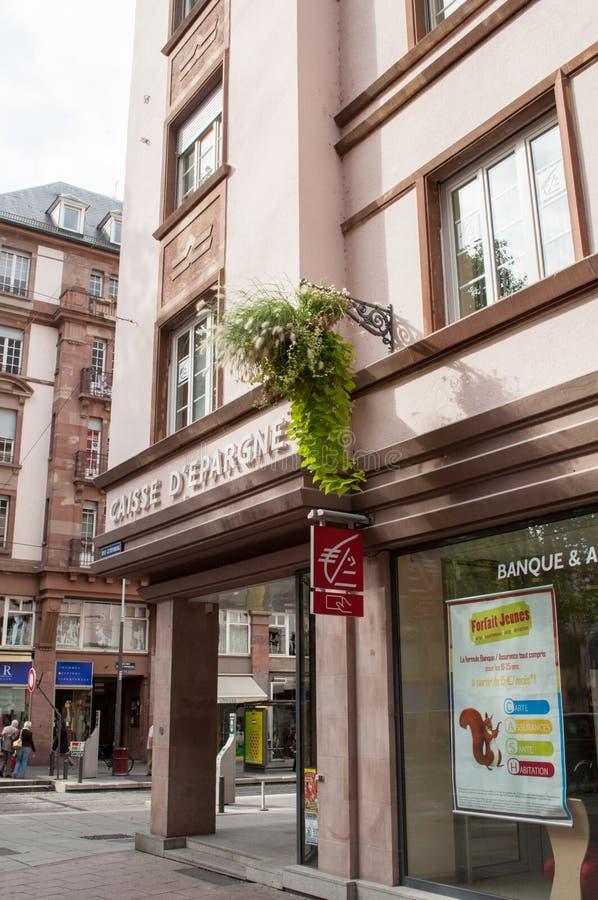 Succursale bancaire de Caisse d'Epargne photos stock