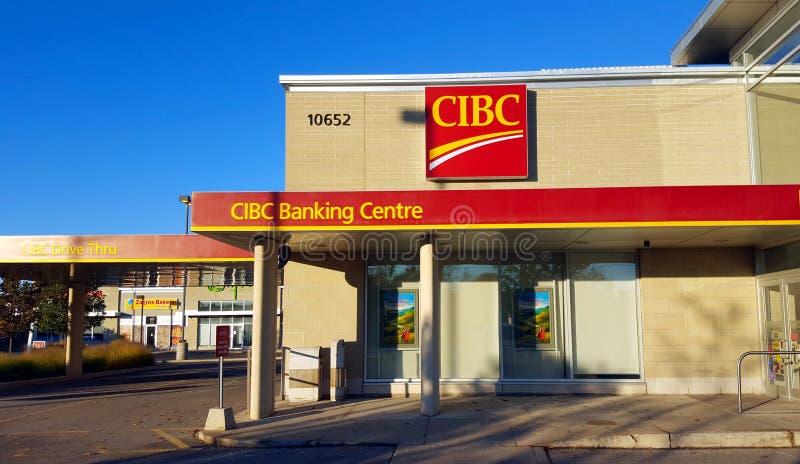 Succursale bancaire de CIBC photographie stock libre de droits