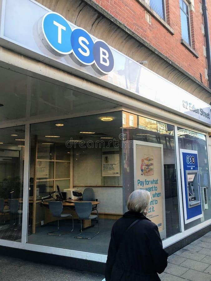 Succursale bancaire de TSB photos stock