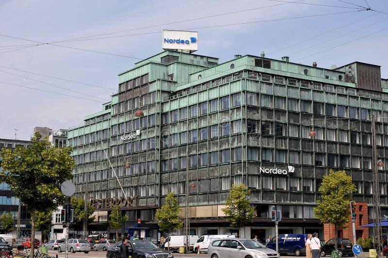 Succursale bancaria di Nordea su Vesterbrogade a Copenhaghen Danimarca fotografia stock