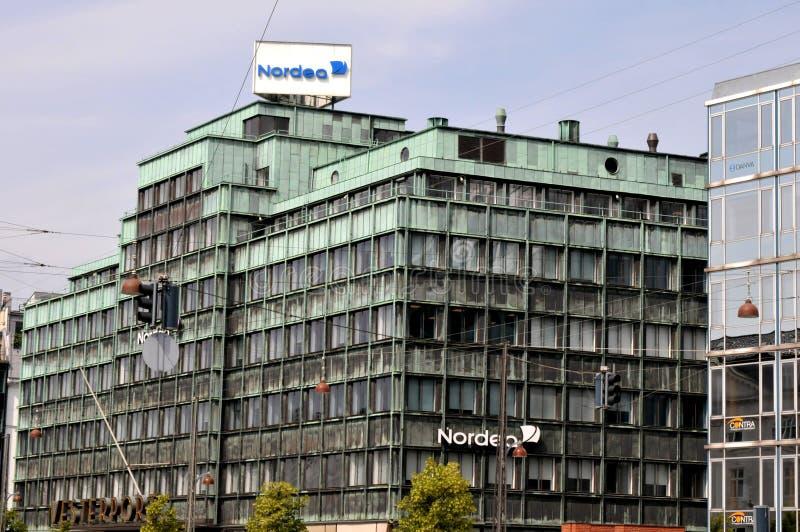 Succursale bancaria di Nordea su Vesterbrogade a Copenhaghen Danimarca fotografie stock