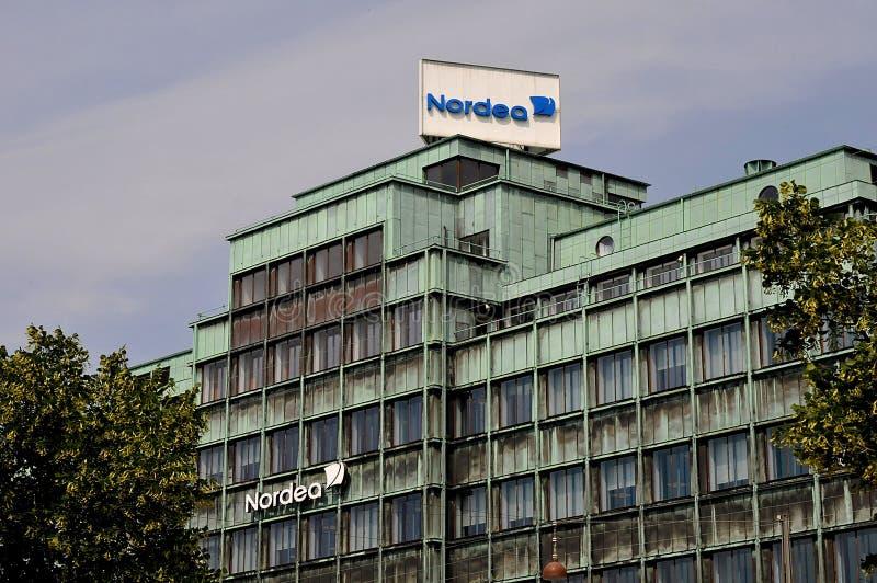 Succursale bancaria di Nordea su Vesterbrogade a Copenhaghen Danimarca immagine stock