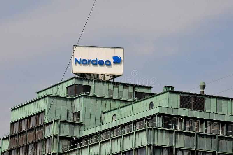 Succursale bancaria di Nordea su Vesterbrogade a Copenhaghen Danimarca immagine stock libera da diritti