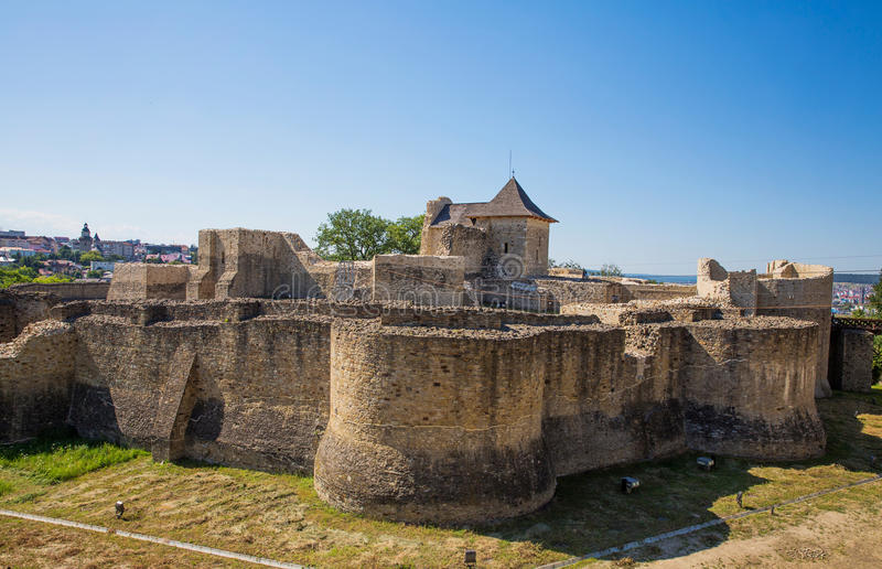 Suceava fästning arkivbild