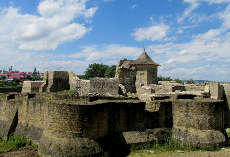 Suceava Fortress- старая румынская цитадель стоковое фото rf