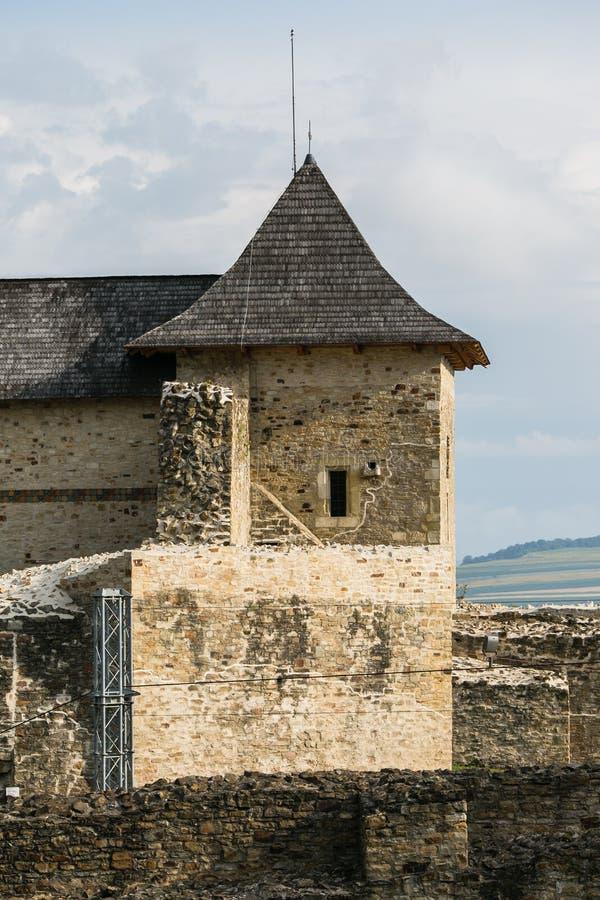 Suceava, Roumanie - 16 JUILLET 2017 : Ancienne forteresse royale de Suceava en Roumanie photos libres de droits