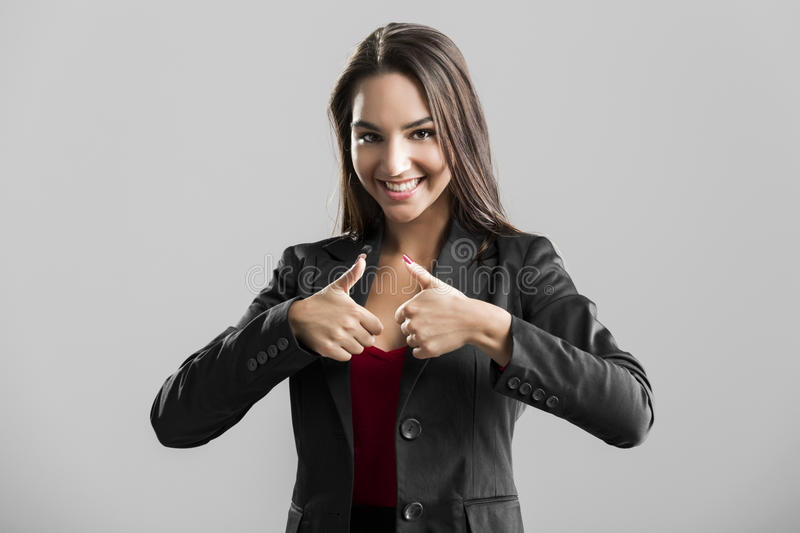 Sucessful business woman stock photos