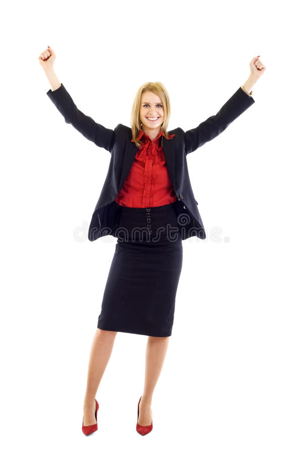 Sucessful Geschäftsfrau lizenzfreies stockfoto
