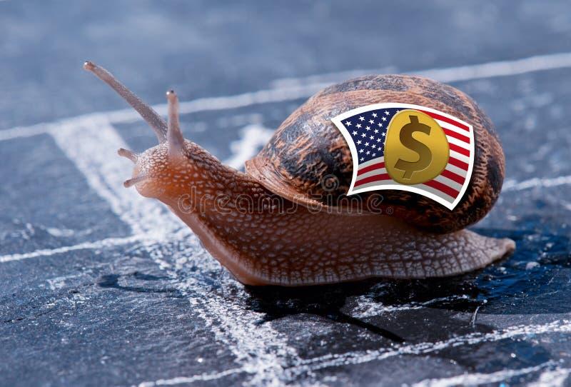 Sucesso da metáfora da moeda americana do dólar imagens de stock royalty free