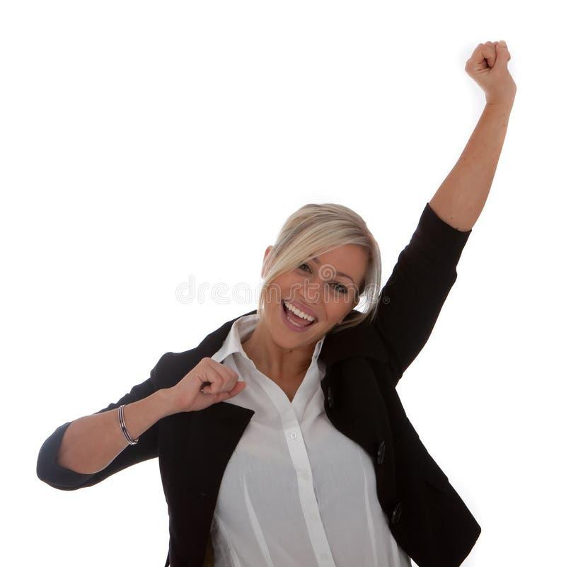 Sucesso da mulher de negócios foto de stock royalty free