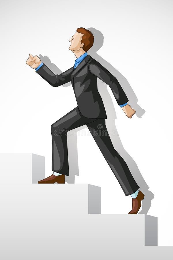 Sucesso de escalada do executivo ilustração royalty free